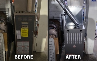 before and after furnace installation